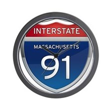 Massachusetts Interstate 91 Wall Clock