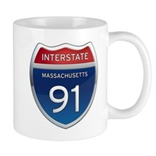 Massachusetts Interstate 91 Mugs