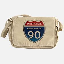 Massachusetts Interstate 90 Messenger Bag