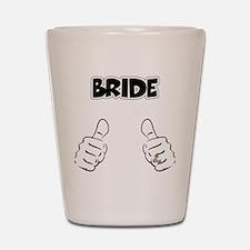 Bride Thumbs Up Shot Glass