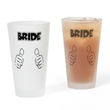 Bride Thumbs Up Drinking Glass