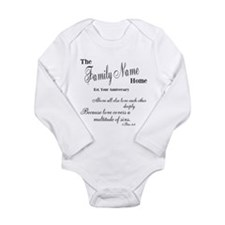 1 Peter 4:8 Long Sleeve Infant Bodysuit