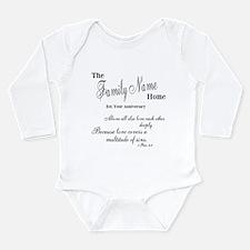 1 Peter 4:8 Long Sleeve Infant Bodysuit