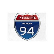 Michigan Interstate 94 5'x7'Area Rug