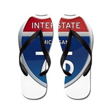 Michigan Interstate 75 Flip Flops