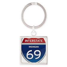Michigan Interstate 69 Keychains