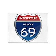 Michigan Interstate 69 5'x7'Area Rug