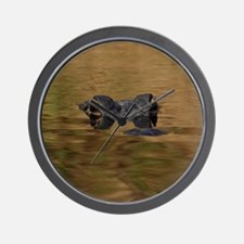 Alligator Reflections Wall Clock