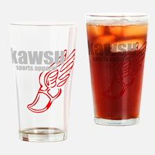 kawsu track and field Drinking Glass