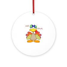 No Fowl Ornament (Round)