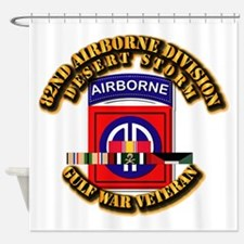 Army - DS - 82nd ABN DIV w SVC Shower Curtain
