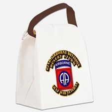 Army - DS - 82nd ABN DIV - DS Canvas Lunch Bag