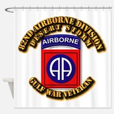 Army - DS - 82nd ABN DIV - DS Shower Curtain