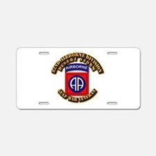 Army - DS - 82nd ABN DIV - DS Aluminum License Pla
