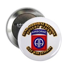 """Army - DS - 82nd ABN DIV - DS 2.25"""" Button"""
