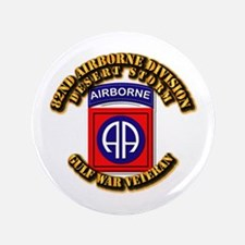 """Army - DS - 82nd ABN DIV - DS 3.5"""" Button (100 pac"""