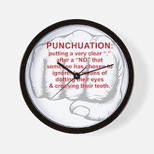 Punchuation Wall Clock