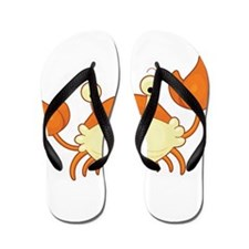 Two Tone Crab Flip Flops