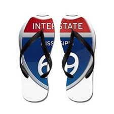 Mississippi Interstate 69 Flip Flops