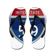 Mississippi Interstate 59 Flip Flops