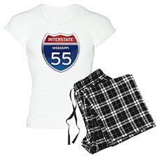 Mississippi Interstate 55 Pajamas