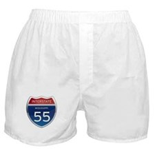 Mississippi Interstate 55 Boxer Shorts
