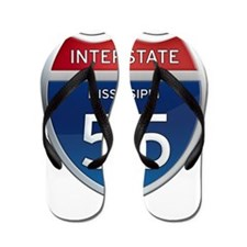 Mississippi Interstate 55 Flip Flops