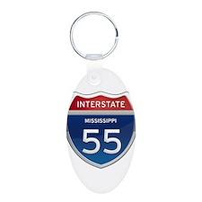 Mississippi Interstate 55 Keychains