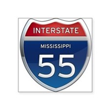 Mississippi Interstate 55 Sticker