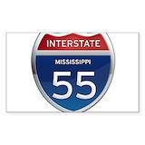 Interstate 55 mississippi Bumper Stickers