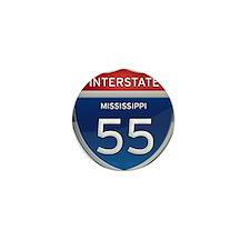 Mississippi Interstate 55 Mini Button