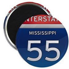 Mississippi Interstate 55 Magnets