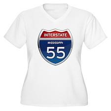 Mississippi Interstate 55 Plus Size T-Shirt