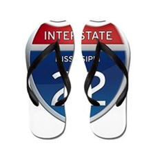 Mississippi Interstate 22 Flip Flops