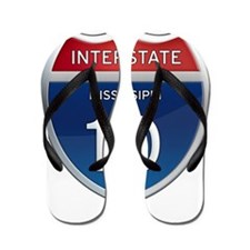 Mississippi Interstate 10 Flip Flops