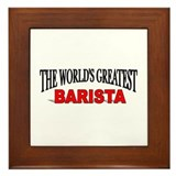 Best barista Framed Tiles