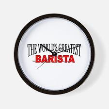 """The World's Greatest Barista"" Wall Clock"