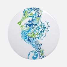 Fancy Seahorse Ornament (Round)