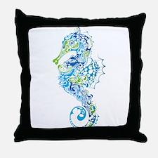 Fancy Seahorse Throw Pillow