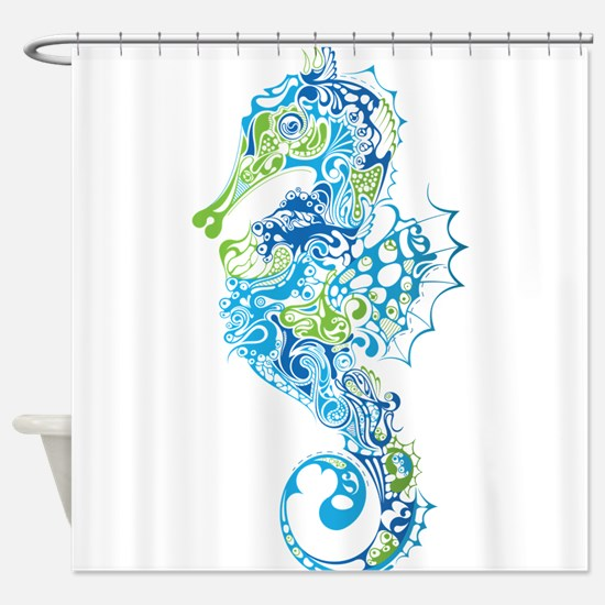 Fancy Seahorse Shower Curtain