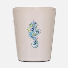 Fancy Seahorse Shot Glass