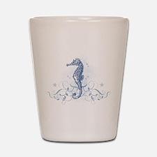 Blue Seahorse Shot Glass