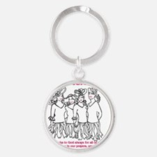 Four Sistersour Sistres Round Keychain