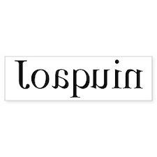 Joaquin: Mirror Bumper Bumper Sticker