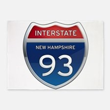 New Hampshire Interstate 93 5'x7'Area Rug