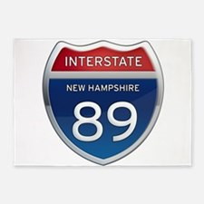 New Hampshire Interstate 89 5'x7'Area Rug