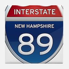 New Hampshire Interstate 89 Tile Coaster