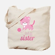 Kitten Big Sister Tote Bag