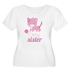 Kitten Big Sister Plus Size T-Shirt