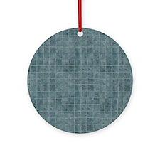 Tile Grain Designer Pattern Round Ornament